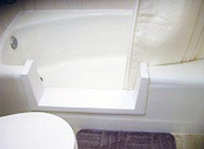 tub cut - sealing a step insert