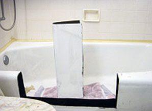 tub cut - tub to shower conversion