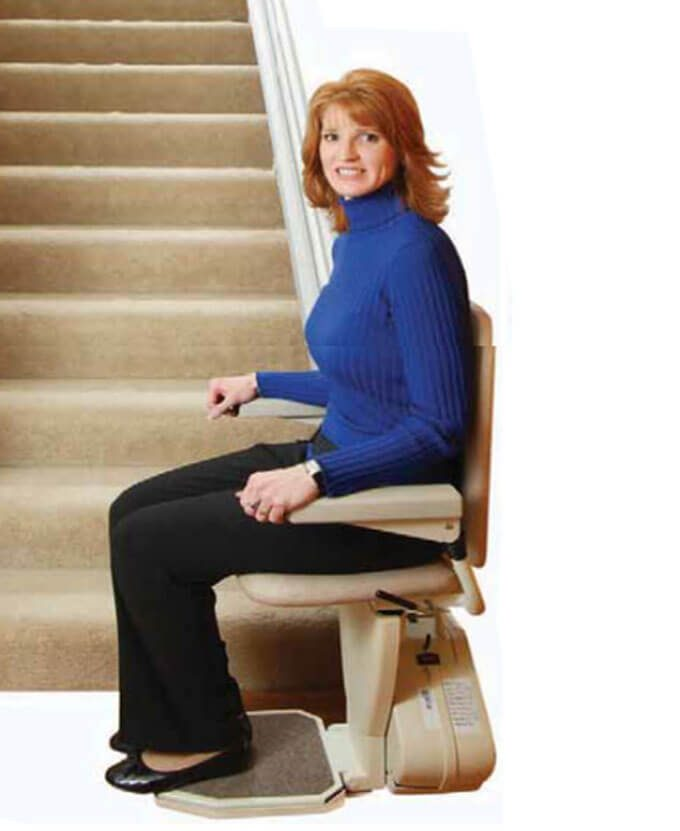 Ameriglide Rave Stairlift - Ohio Walk-in Showers and Stairlifts