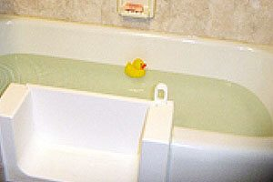 Tub to shower conversions with bathing options