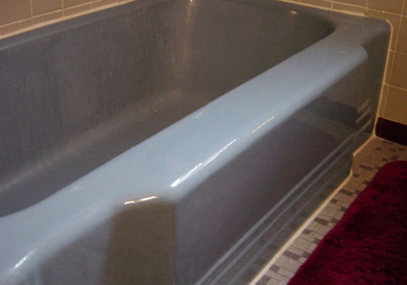 colorful fifties cast iron tub