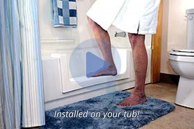 Watch a Video Demonstrating a Step-In Shower Conversion