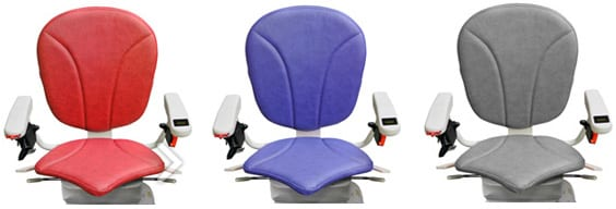 Ergo Plus Seat Cushions in blue, red, and gray colors