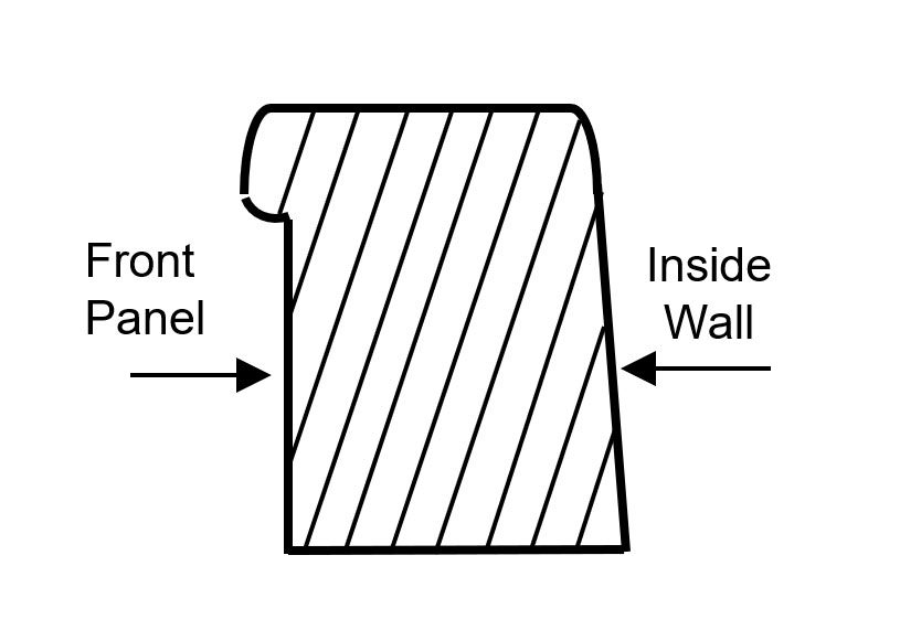 cross section of muffin top steel tub